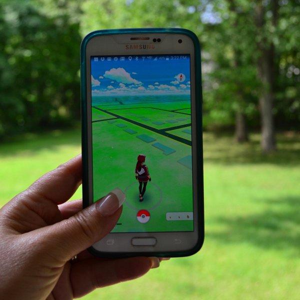 Pokémon GO on a smarthphone screen